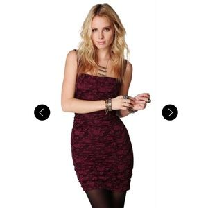 Free People Dusty Rose Lace Bodycon Dress E21